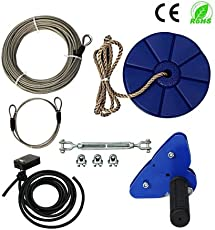 Zip line in your backyard a complete guide lowcostplayground family backyard toys 95 foot zip line kit with brake and seat zip line cable trolley pulley to solutioingenieria Images