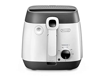 DeLonghi FS6055 Solo Independiente 1800W Negro, Color blanco - Freidora (1,5 kg