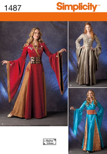 SIMPLICITY 1487 MISSES' COSTUME (SIZE 14-22) SEWING PATTERN]()