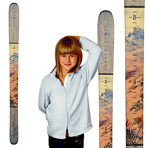 Advantage Ski Pant - Growth Chart Art   Ski Growth Chart   Wooden Wall Hanging Wood Height Chart   Gray Mountain