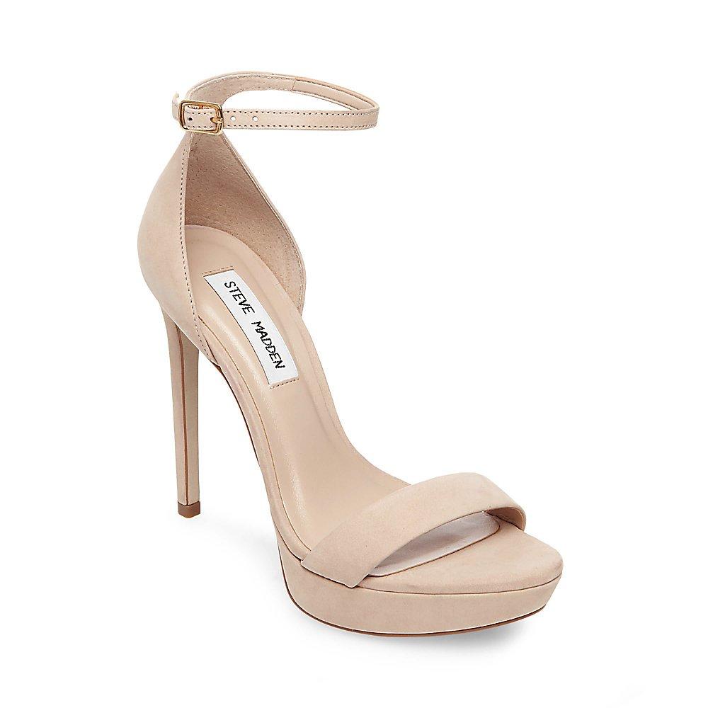 Steve Madden Women's Starlet Heeled Sandal B07887K61T 8 B(M) US|Natural Nubuck