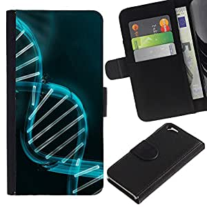 Planetar® Modelo colorido cuero carpeta tirón caso cubierta piel Holster Funda protección Para Apple (4.7 inches!!!) iPhone 6 ( Scientist Doctor Genes Biology Science )