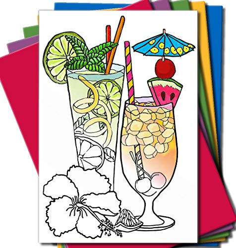 Art Eclect Adult Coloring Greeting Cards for Birthday, Anniversary and Every Occasions | Set of 10 Cards to Color and Send | Envelopes Included | Set C/Rainbow