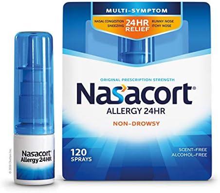 بخاخ أنفي 24 ساعة لا يسبب الحساسية للبالغين من ناساكورت لا يتمزق ولا يحوي على الكحول 120 رذاذ 16 87 مل Amazon Ae