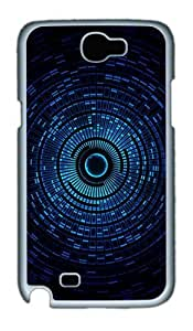 Abstract Blue Space Orb Custom Designer Samsung Galaxy Note 2/Note II / N7100 Case Cover - Polycarbonate - White