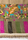Originals Kashmir 100% Pure Handmade Pashmina Kani Border Art Work grey with beautiful flowers shawl Stole Scarf Wrap