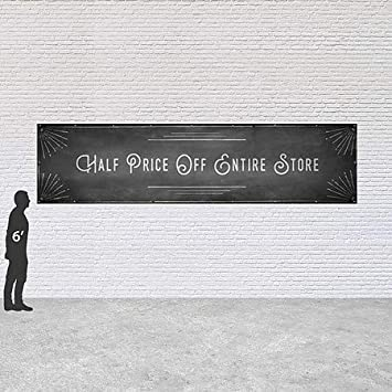 Buy One Get One Free CGSignLab 12x8 Ghost Aged Rust Wind-Resistant Outdoor Mesh Vinyl Banner