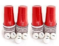 US College Party Beer Pong Partybecher Rot Set mit 120 stück stabilen,...