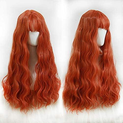 WIG MINE Peluca naranja hembra pelo largo Lolita rollo de huevo ...