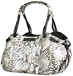 Backbone Faux Snake Leather Pet Carrier
