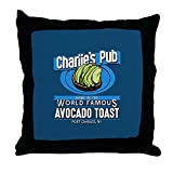 CafePress General Hospital Charlie's Pub Avocad - Decor Throw Pillow (18''x18'')