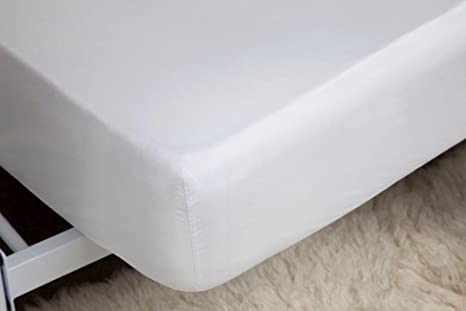 400 Thread Count Egyptian Cotton Fitted Sheets Single Ply White All Sizes 30cm