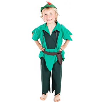 Boys Toys - Disfraz de Peter Pan para niño, talla 3-5 años ...