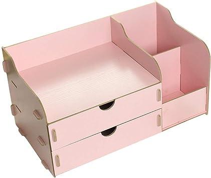 Santonliso Caja de Almacenamiento de Oficina de Escritorio de cosméticos de Madera Rosa Caja de Almacenamiento de Oficina (Color : Rosado): Amazon.es: Electrónica