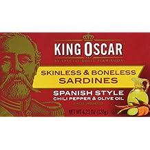 King Oscar Skinless & Boneless Sardines Spanish Style, 4.23 Ounce (Pack of 12)