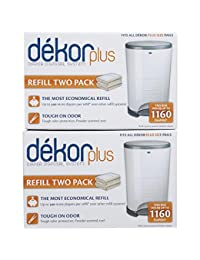 Diaper Dekor Plus Refill - 2 ct - 2 pk BOBEBE Online Baby Store From New York to Miami and Los Angeles