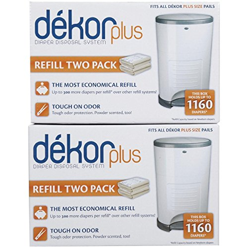 Diaper Dekor Plus Refill - 2 ct - 2 pk (Diaper Dekor Pail)