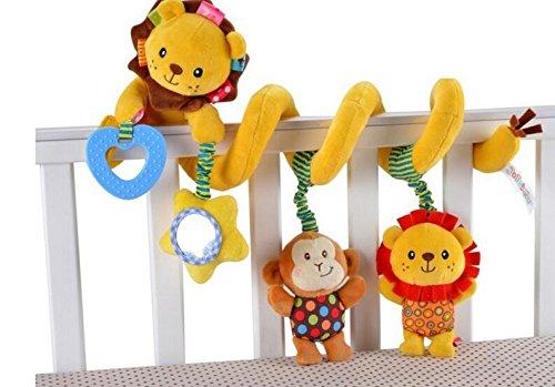 Lytshop Kids Cute Toy Baby Crib Pram Spiral RattlesToys Stroller Hanging Toy Car Seat Toy