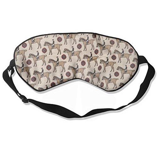 Sleep Mask Horse Eye Cover Blackout Eye Masks,Soothing Puffy Eyes,Dark Circles,Stress,Breathable Blindfold For Women Men By LERJIMUX