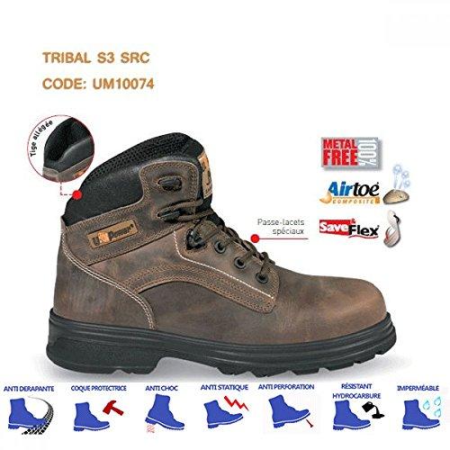 U-de alimentación de corriente marrón Tribal S3 botas de seguridad para motosierra marrón - marrón