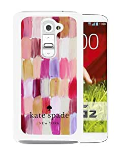 Personalized Design With Kate Spade 105 White LG G2 Protective Cover Case