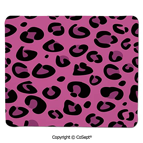 Mouse Pad,Leopard Animal Skin Pattern in Abstract Style Wild Safari Jungle Theme Decorative,for Computer,Laptop,Home,Office & Travel(15.74