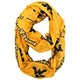 NCAA West Virginia Mountaineers Sheer Infinity Scarf, One Size, Yellow