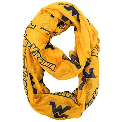 NCAA West Virginia Mountaineers Sheer Infinity Scarf, One Size, (Wvu Basketball)