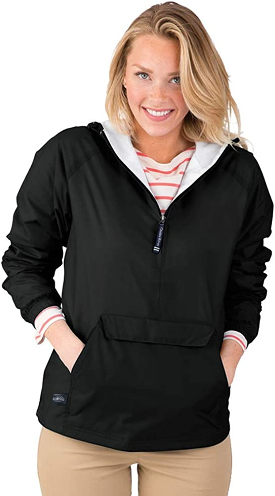 Charles River Apparel Wind & Water-Resistant Pullover Rain Jacket (Reg/Ext Sizes): Clothing