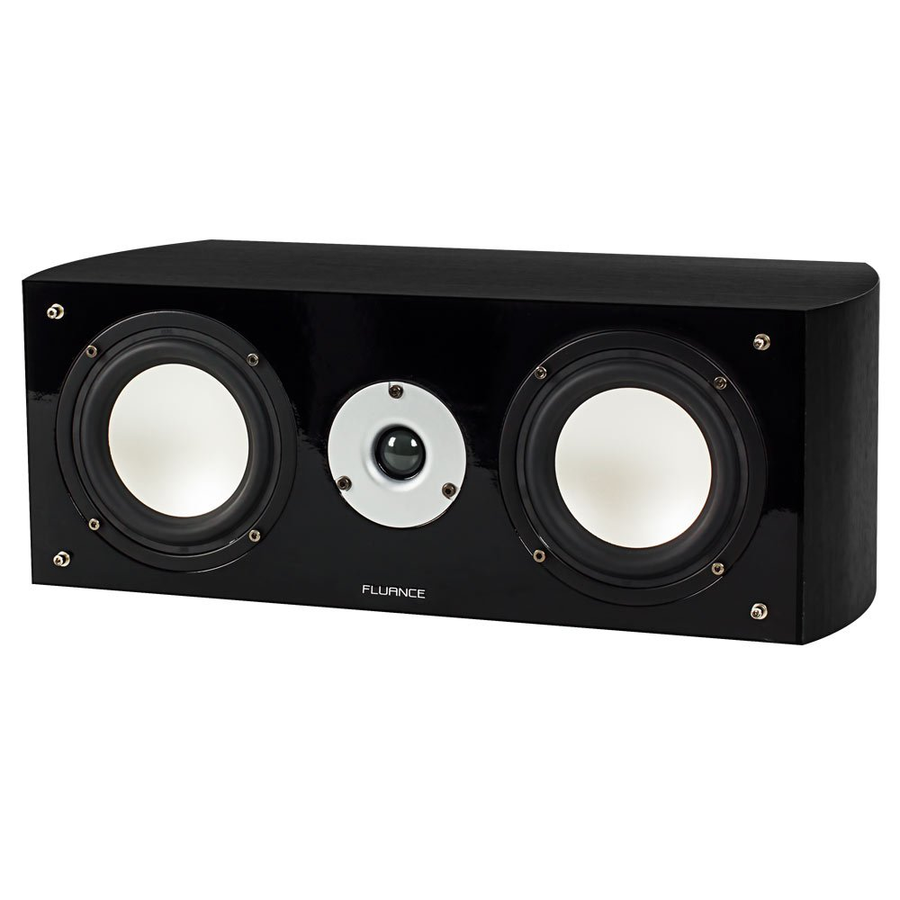 Fluance XL7C High Performance Two-way Center Channel Speaker for Home Theater - Black Ash