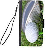 Rikki Knight Design Premium Flip Case with Card Slots for Galaxy Note 4 - Golf Ball Tee Close-up