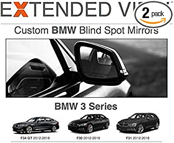 Compatible with BMW 3 Series F34 GT Extended View Blind Spot Mirrors