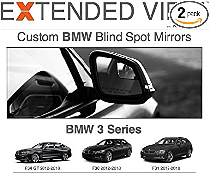 Compatible with BMW 3 Series F31 Extended View Blind Spot Mirrors