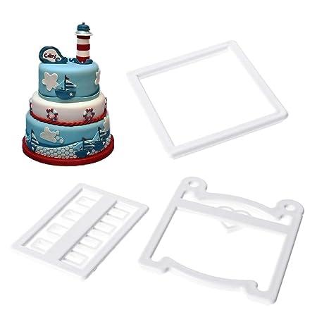 3 pieza 3d plástico mini cuna molde moldes - Chocolate Fondant Decoración Herramientas: Amazon.es: Hogar