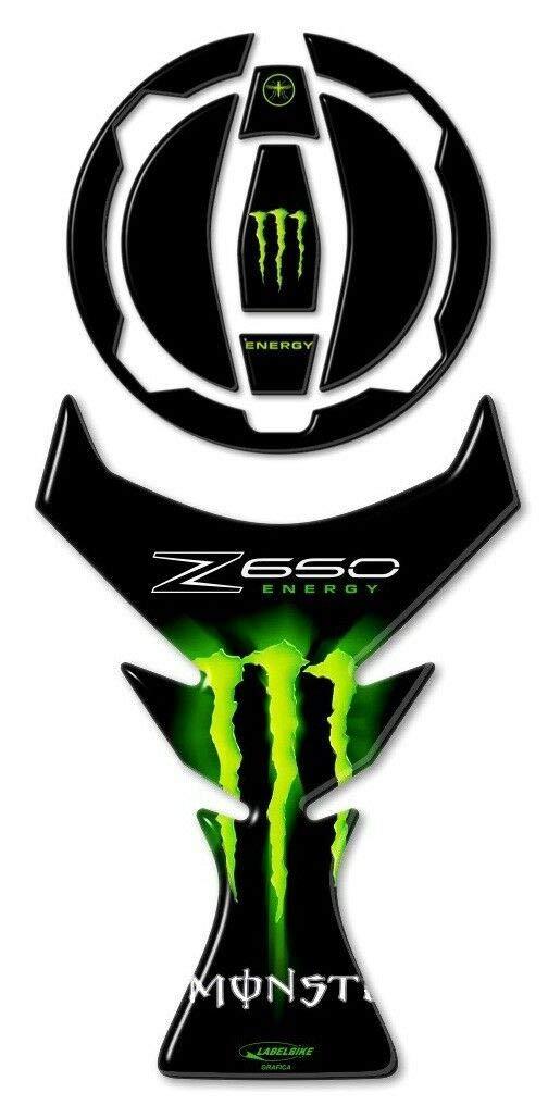 Kit de Pegatinas Gel 3d Protecciones Dep/ósito Compatible para Moto Z 650 Kawasaki Z650