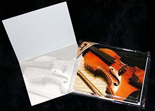 Violin Concerto Music Bow Strings Fine Art Photography Note Cards 10 or 20 Pack w/ Envelopes