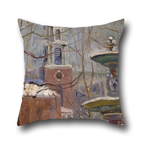 [20 X 20 Inches / 50 By 50 Cm Oil Painting Arthur Clifton Goodwin - Park Street At Boston Commons Throw Cushion Covers,twice Sides Is Fit For Saloon,kids] (Punk Rocker Girl Costume Ideas)