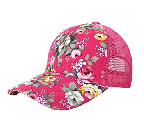 [Women Flower Summer Fashion Unisex Baseball Cap Hat Bone (Pink)] (Cubs Fan Costume)