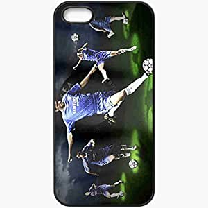 Personalized iPhone 5 5S Cell phone Case/Cover Skin Ballack made by robinhood michael cristiano ronaldo lionel messi chelsea Black