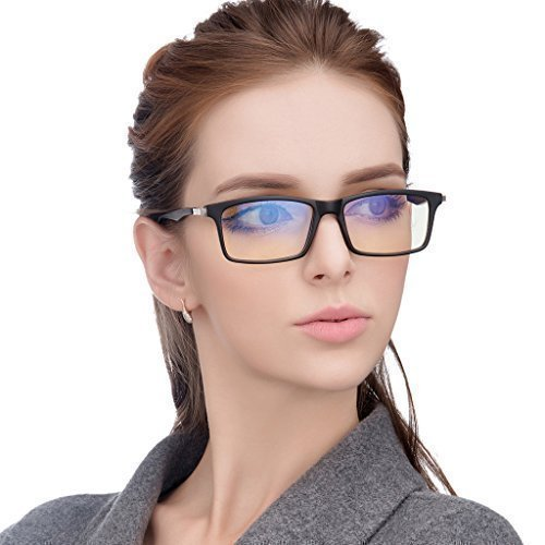Jimmy Orange Anti Glare Tinted Womens Blue Light Blocking Mens Computer Glasses Eye Strain Readers Clear Anti Reflective JO7600, - Eyeglasses Ban Cheap Ray Online
