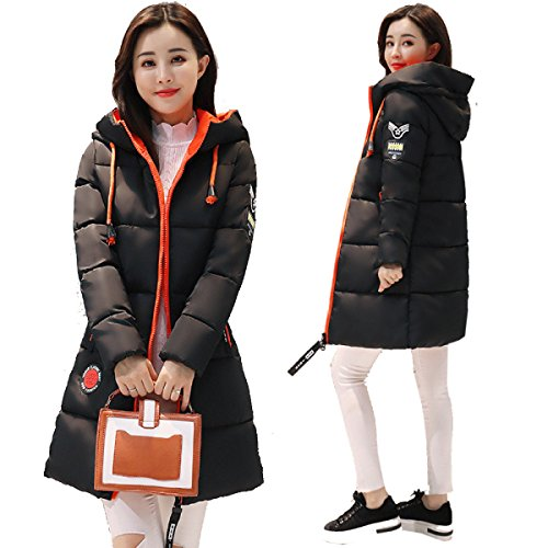 Winter Coat Student Jacket Cute Cotton Korea Eiderdown Section Jacket Outwear nihiug Down E Down Long ZwpqAWP