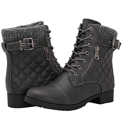 Globalwin Women's 1835 Grey Fashion Boots 9M