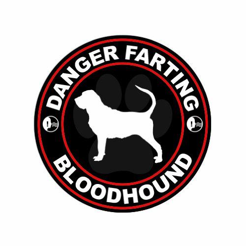 Danger Farting Bloodhound - Color Sticker - Decal - Die (Bloodhound Sticker)