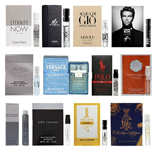 12 Men's Designer Cologne Sample Vial ()