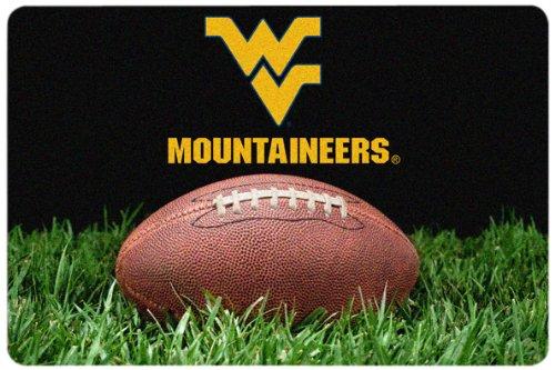 NCAA West Virginia Mountaineers Classic Football Pet Bowl Mat, Large (Nfl Team Pet Mat)
