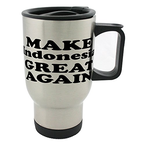 MAKE Indonesia GREAT AGAIN 14oz Stainless Steel mug by PickYourImage