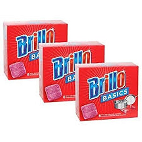 Price comparison product image Brillo Basics Steel-wool Soap Pads,  8-ct. Boxes - Pack of 3