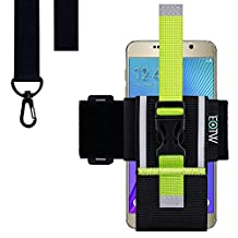 Running Exercise Armband, EOTW Universal Running Armband Smartphone Sports Armband with Lanyard for Samsung Galaxy S6, S5, S4, S3, NOTE 2/3/4, iPhone 6 / 6S plus, HTC One,One Plus (5.1~6 inches)