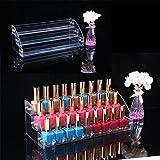 YDZN Acrylic 1/2/3/4/5/6/7 Layers Tiers Nail Polish Rack Organizer Lipstick Jewelry Display Holder (3 Layers)