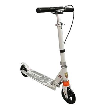 LXJYMX Scooter, Scooter de Dos Ruedas para niños, Freno de Mano Scooter Plegable Que